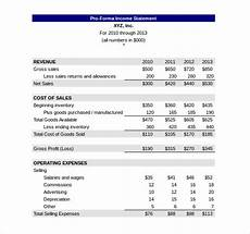 Pro Forma Profit And Loss Statement Template Income Statement Template 23 Free Word Excel Pdf