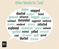 Other Words For Janitor Dialogue Words Other Words For Said Now Novel