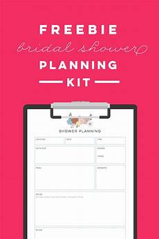 Checklist For A Wedding Free Printable Bridal Shower Planning Kit To Do List