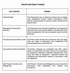 Audit Report Template 20 Internal Audit Report Templates Word Pdf Apple