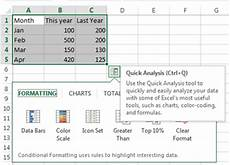 Quick Analysis Tool Excel Excel 2013 New Features Exceldemy