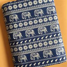 fabric crafts upholstery by meter ethnic elephant print linen material bags crafts