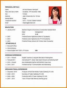 Example Of Curriculum Vitae For Job Application Curriculum Vitae Example Good Academic Curriculum Vitae