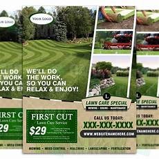 Landscaping Flyer Design Lawn Care Flyer Design 4 The Lawn Market