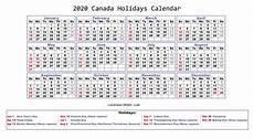 2020 Calendar Canada 2020 Holidays Calendar Printable Worldwide Calendar 2020