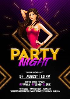Flyer Partys Party Night Flyer Free Psd