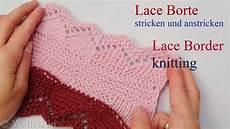 lace bord 252 re stricken und anstricken knitting on lace