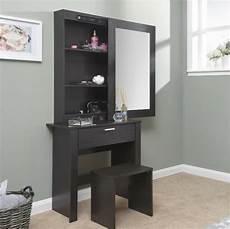 large dressing table storage mirror set black bedroom