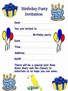 Birthday Invitation Letter Birthday Invitation Letter A Birthday Invitation Letter