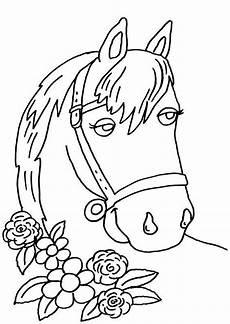 Malvorlage Pferd Zum Ausdrucken Kostenlose Malvorlage Pferde Pferd Und Blumen Zum Ausmalen
