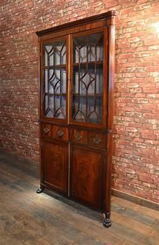 antique regency corner cabinet astragal glazed