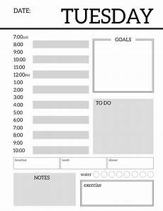 Daily Organiser Template Daily Planner Printable Template Sheets Paper Trail Design