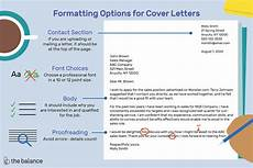 What Font For Cover Letter How To Format A Cover Letter