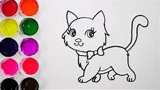 dibujos de gatos como dibujar y colorear un gato de arco iris dibujos