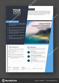 One Page Flyer One Page Professional Business Flyer Or Pamphlet Stock