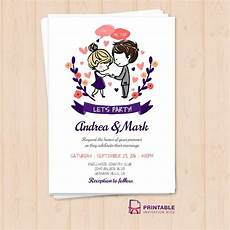 Printable Invitations At Home Free Pdf I Do Me Too Let S Party Wedding Invitation