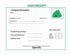 Cash Receipt Format Doc 21 Free Cash Receipt Templates For Word Excel And Pdf