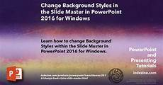 How To Change Powerpoint Template Change Background Styles In The Slide Master In Powerpoint