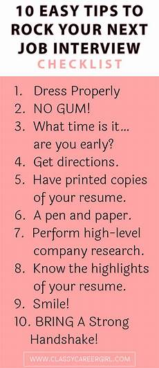 Resume For Job Interview Checklist 10 Easy Tips To Rock Your Next Job Interview