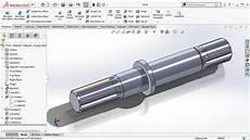 Design Of Shaft Ppt Solidworks Tutorial Spline Shaft Design Uses Of Swept