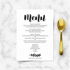 Catering Menu Card Simple Wedding Menu Card Printable Templates Hands In