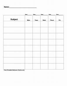 Behavior Clip Chart Template Free Printable Blank Charts Free Printable Behavior