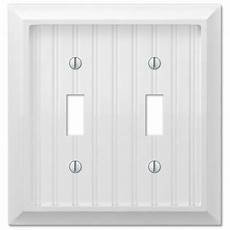 Cottage Light Switch Covers Cottage White Wood Double Toggle Wall Switch Plate Cover
