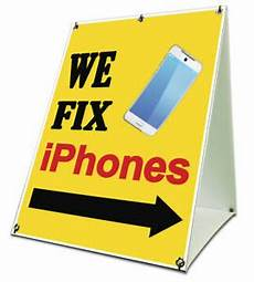 Cell Phone Store Signs We Fix Iphones Sidewalk A Frame 18 Quot X24 Quot Outdoor Cell Phone
