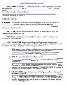 Downloadable Residential Lease Agreement Free Rental Lease Agreement Forms Pdf Template Form