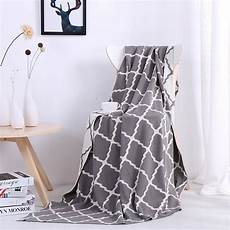 Gray Throws And Blankets For Sofa 3d Image by Plaid Printing Simple Modern Soft Grey Blanket Home Bed