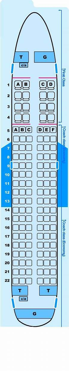 Airbus A319 100 Seating Chart Seat Map Northwest Airlines Airbus A319 100 Seatmaestro