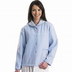 slenderella polar fleece button up bed jacket