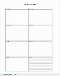 Free Daily Diary Template Free Diary For Excel