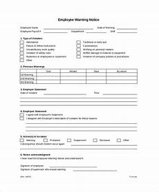 Employee Warning Template 12 Printable Employee Warning Notice Templates Google
