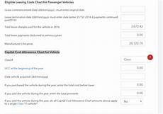 Capital Cost Allowance Chart For Vehicle Do I Need To Fill That Part Quot Capital Cost Allowance Chart