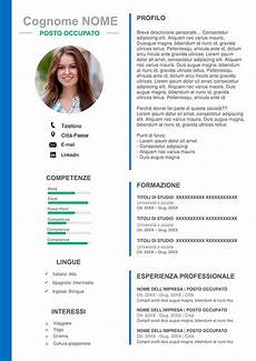 Formato De Curriculum Con Foto Layout Di Cv In Formato Word Download Gratis Template Cv