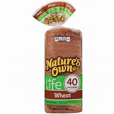 Light Wheat Bread Calories Nature S Own 174 Life 40 Calorie Wheat Bread 16 Oz Bag