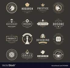 Retro Logo Maker Vintage Logos Design Templates Set Design Vector Image