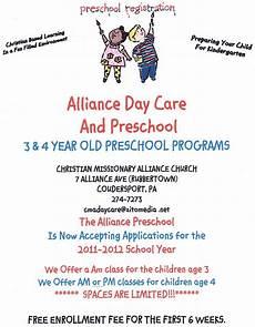 Daycare Ad Solomon S Ads Alliance Day Care Amp Preschool Programs