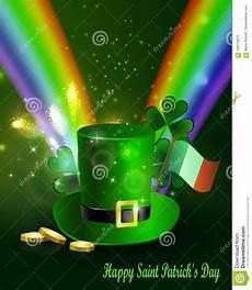 st patricks dag citater st patricks dag groene hoed met regenboog vector