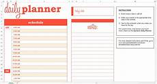Scheduling Planner Daily Schedule Planner Template Business