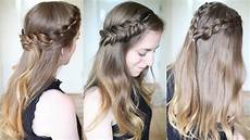 3 pretty half braided hairstyles half