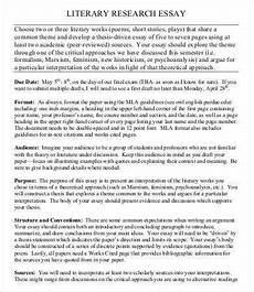 Response To Literature Essay Example Literary Essay Template 11 Free Samples Examples