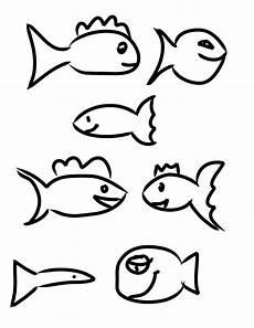 Fische Zeichnen Malvorlagen Experimental Fish Coloring Sheet