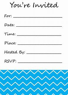 You Re Invited Templates You Re Invited Fillintheblank Invitation Chevron By
