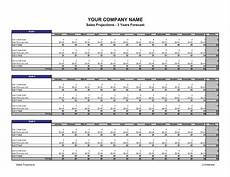 Sales Projections Sales Projections Template Amp Sample Form Biztree Com