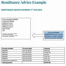 Remittance Invoice Invoices Allocating Payments Via Remittance Advice