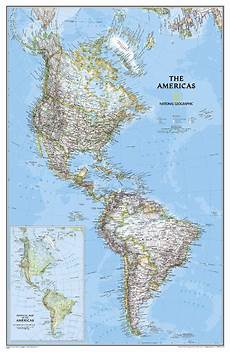 Geographic Map Map Of The Americas For The Wall National Geographic