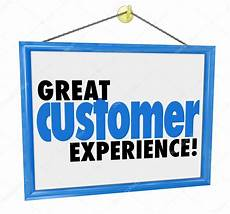 Another Word For Customer Experience Great Customer Experience Words On A Hanging Sign Stock