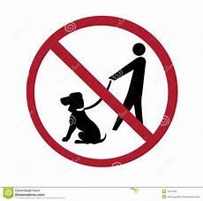 Dog Walking Sign Sign No Dog Walking Stock Illustration Illustration Of